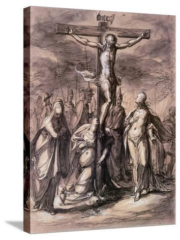 Christ on the Cross, 17th Century-Hermann Weyer-Stretched Canvas Print