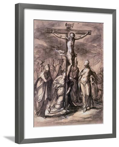 Christ on the Cross, 17th Century-Hermann Weyer-Framed Art Print