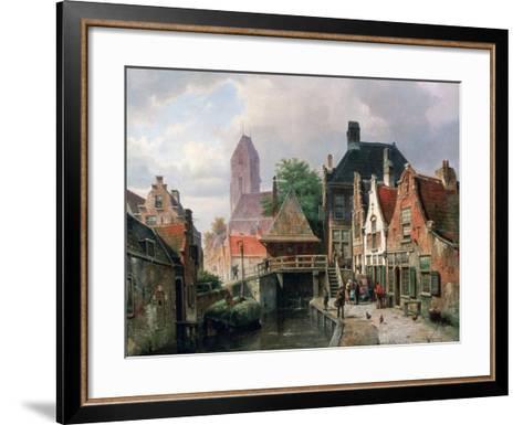 View of Oudewater, C1867-Hermanus Koekkoek-Framed Art Print