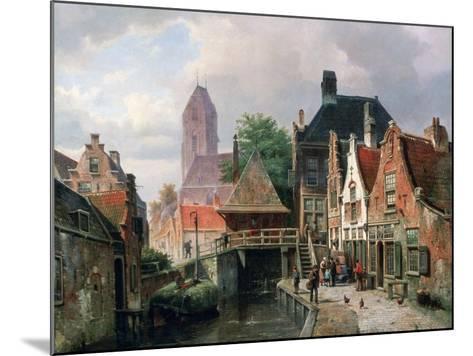 View of Oudewater, C1867-Hermanus Koekkoek-Mounted Giclee Print