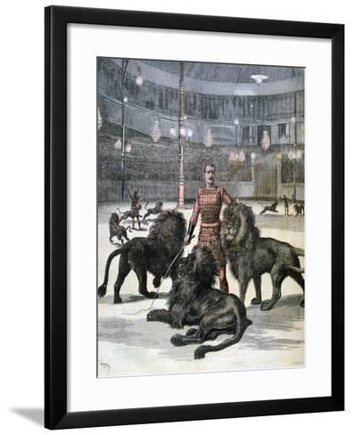 Lion Taming at the L'Hippodrome, Paris, 1891-Henri Meyer-Framed Art Print