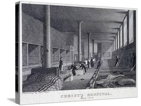 Christ's Hospital, London, 1823-Henry Sargant Storer-Stretched Canvas Print