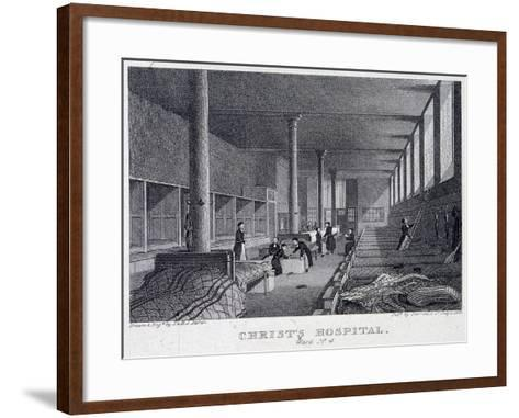 Christ's Hospital, London, 1823-Henry Sargant Storer-Framed Art Print