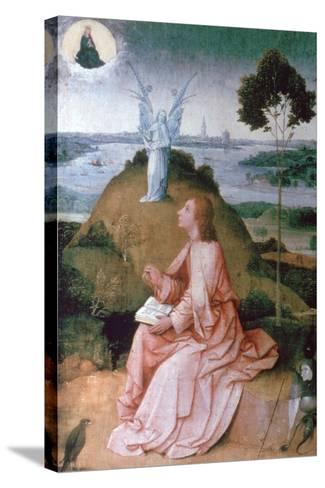 St John the Evangelist on Patmos, 1504-1505-Hieronymus Bosch-Stretched Canvas Print