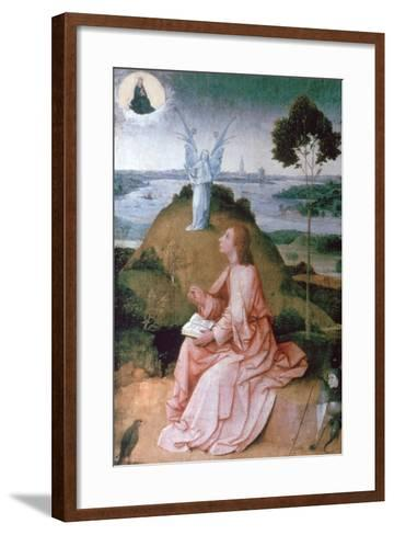 St John the Evangelist on Patmos, 1504-1505-Hieronymus Bosch-Framed Art Print