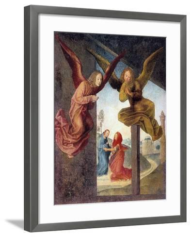 The Adoration of the Magi, Detail, 15th Century-Hugo van der Goes-Framed Art Print