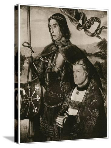 St Victor and a Donor-Hugo van der Goes-Stretched Canvas Print