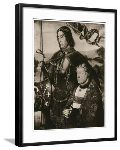 St Victor and a Donor-Hugo van der Goes-Framed Art Print