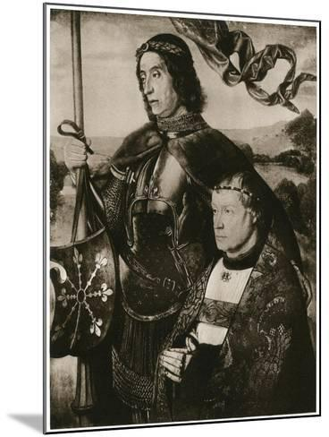 St Victor and a Donor-Hugo van der Goes-Mounted Giclee Print