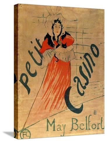 May Belfort, Petit Casino, 1895-Henri de Toulouse-Lautrec-Stretched Canvas Print