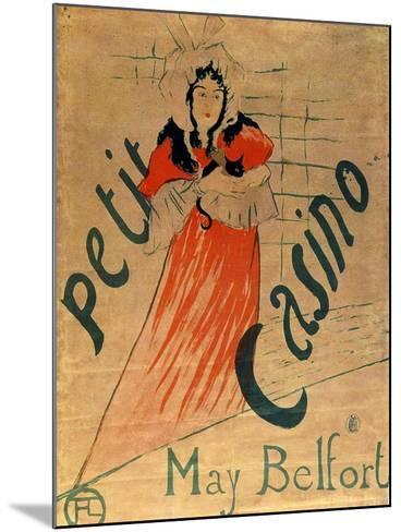 May Belfort, Petit Casino, 1895-Henri de Toulouse-Lautrec-Mounted Giclee Print