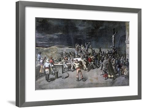Scene Seven, the Rescue, from the Play Maitre D'Armes, Port of Saint-Martin, 1892-Henri Meyer-Framed Art Print