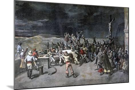 Scene Seven, the Rescue, from the Play Maitre D'Armes, Port of Saint-Martin, 1892-Henri Meyer-Mounted Giclee Print
