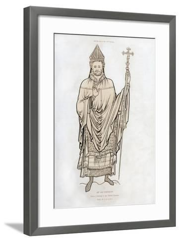 An Archbishop, Late 12th Century-Henry Shaw-Framed Art Print