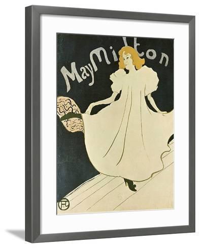 May Milton, 1895-Henri de Toulouse-Lautrec-Framed Art Print