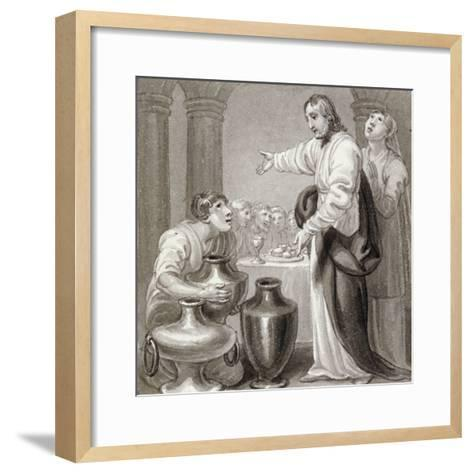 The Marriage at Cana, C1810-C1844-Henry Corbould-Framed Art Print