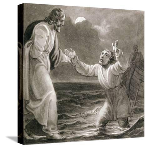 Christ Walking on the Water, C1810-C1844-Henry Corbould-Stretched Canvas Print