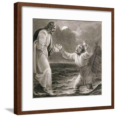 Christ Walking on the Water, C1810-C1844-Henry Corbould-Framed Art Print