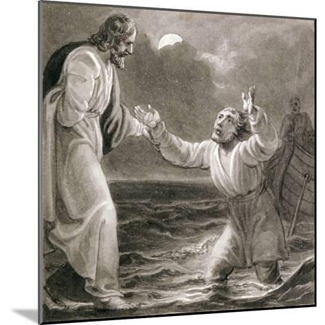 Christ Walking on the Water, C1810-C1844-Henry Corbould-Mounted Giclee Print
