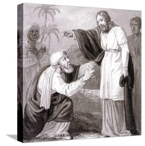 Christ and the Rich Man with the Dying Son, C1810-C1844-Henry Corbould-Stretched Canvas Print