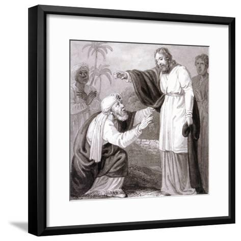 Christ and the Rich Man with the Dying Son, C1810-C1844-Henry Corbould-Framed Art Print