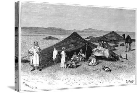 Nomad Encampment, Sahara, C1890- Hildibrand-Stretched Canvas Print