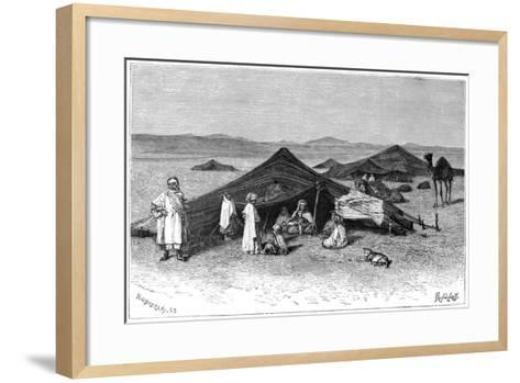 Nomad Encampment, Sahara, C1890- Hildibrand-Framed Art Print