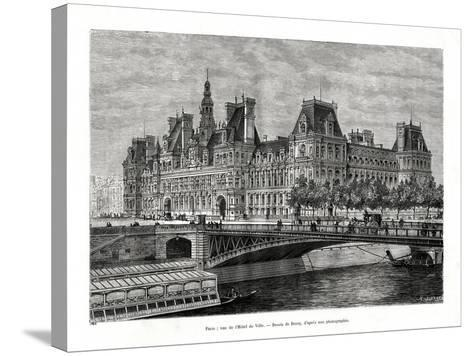 Hotel De Ville, Paris, France, 1886- Hildibrand-Stretched Canvas Print