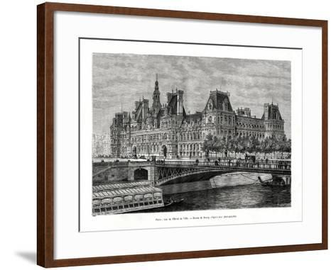 Hotel De Ville, Paris, France, 1886- Hildibrand-Framed Art Print