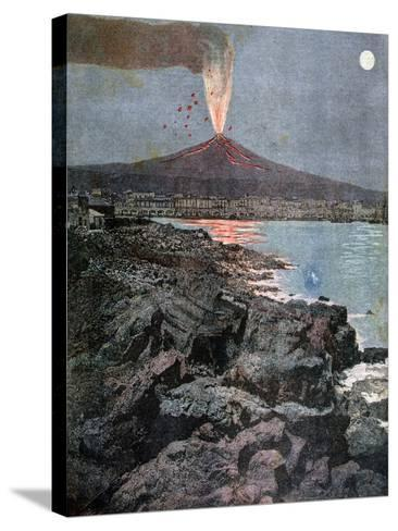 The Eruption of Etna, Sicily, 1892-Henri Meyer-Stretched Canvas Print