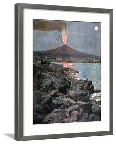 The Eruption of Etna, Sicily, 1892-Henri Meyer-Framed Art Print