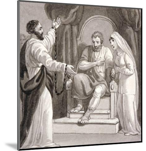 St Paul before the Governor of Caesarea, Felix, and His Wife, Drusilla, C1810-1844-Henry Corbould-Mounted Giclee Print