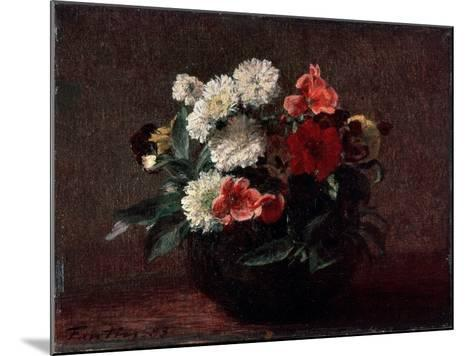 Flowers in an Earthenware Vase, 1883-Henri Fantin-Latour-Mounted Giclee Print