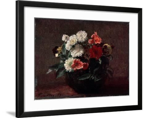 Flowers in an Earthenware Vase, 1883-Henri Fantin-Latour-Framed Art Print