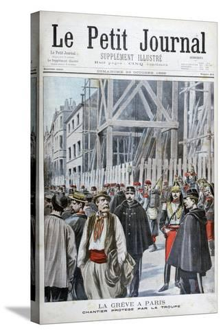 A Strike in Paris, 1898-Henri Meyer-Stretched Canvas Print