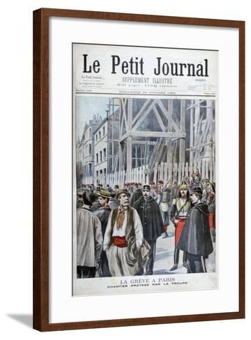 A Strike in Paris, 1898-Henri Meyer-Framed Art Print