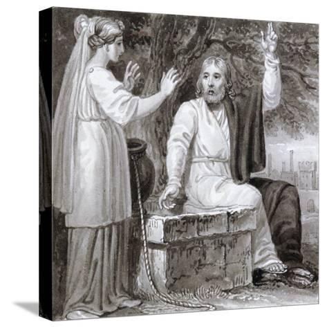 Christ and the Woman of Samaria, C1810-C1844-Henry Corbould-Stretched Canvas Print