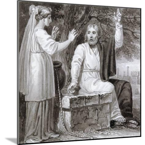 Christ and the Woman of Samaria, C1810-C1844-Henry Corbould-Mounted Giclee Print