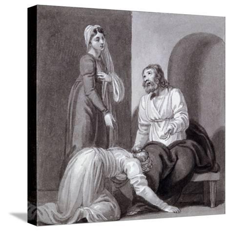 Christ with Martha and Mary, C1810-C1844-Henry Corbould-Stretched Canvas Print