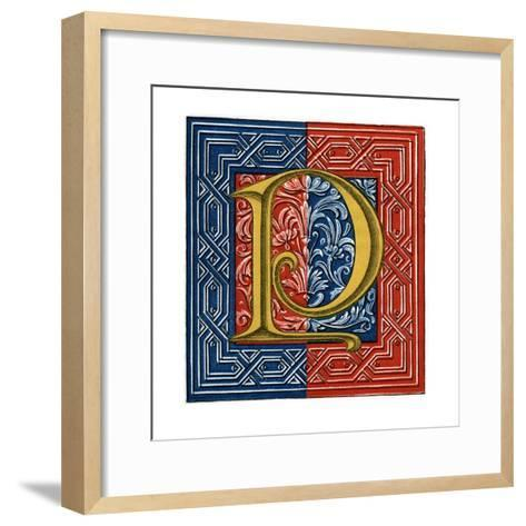 Initial Letter P-Henry Shaw-Framed Art Print