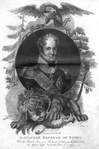 Alexander I, Emperor of Russia (1777-182), 1816-I Brown-Stretched Canvas Print