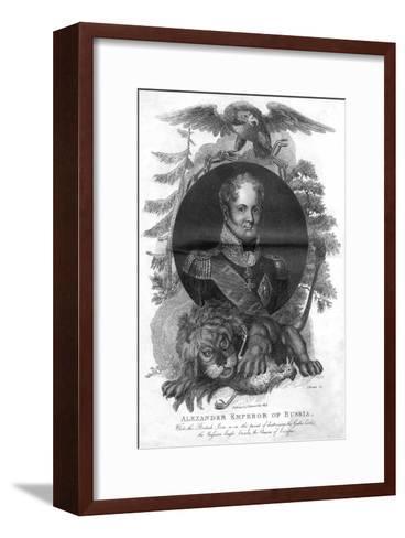 Alexander I, Emperor of Russia (1777-182), 1816-I Brown-Framed Art Print