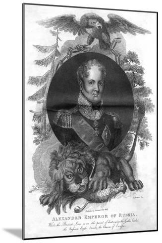 Alexander I, Emperor of Russia (1777-182), 1816-I Brown-Mounted Giclee Print