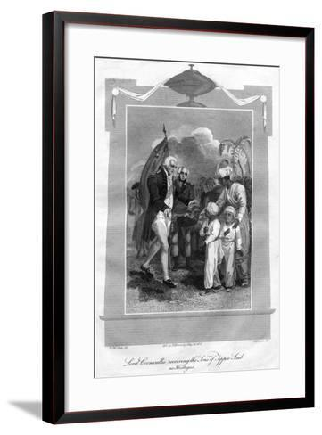 Lord Cornwallis (1738-180) Receiving the Sons of Tippoo Saib as Hostages, 1816-I Brown-Framed Art Print