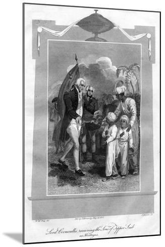 Lord Cornwallis (1738-180) Receiving the Sons of Tippoo Saib as Hostages, 1816-I Brown-Mounted Giclee Print