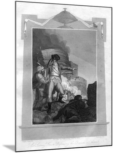 Sir Sydney Smith (1764-184) Defending the Breach at Acre, 1816-I Brown-Mounted Giclee Print