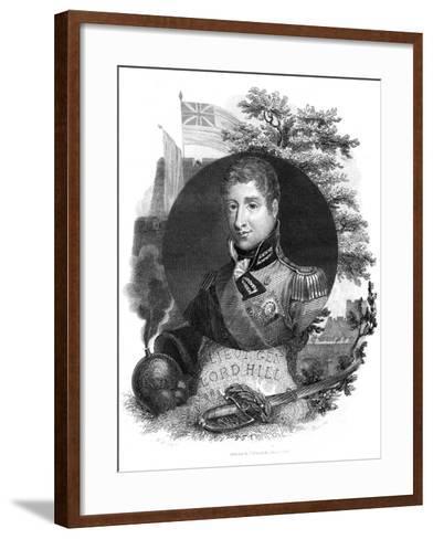 Lieutenant General Lord Hill, 1816-I Brown-Framed Art Print