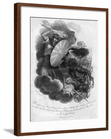 Revolutionary Fury Setting Out to Enslave or Destroy the Nations of Europe, 1816-I Brown-Framed Art Print