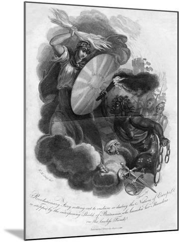 Revolutionary Fury Setting Out to Enslave or Destroy the Nations of Europe, 1816-I Brown-Mounted Giclee Print