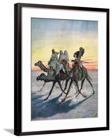 Escape of the Prisoners of the Mahdi, Khartoum, Sudan, 1892-Henri Meyer-Framed Art Print